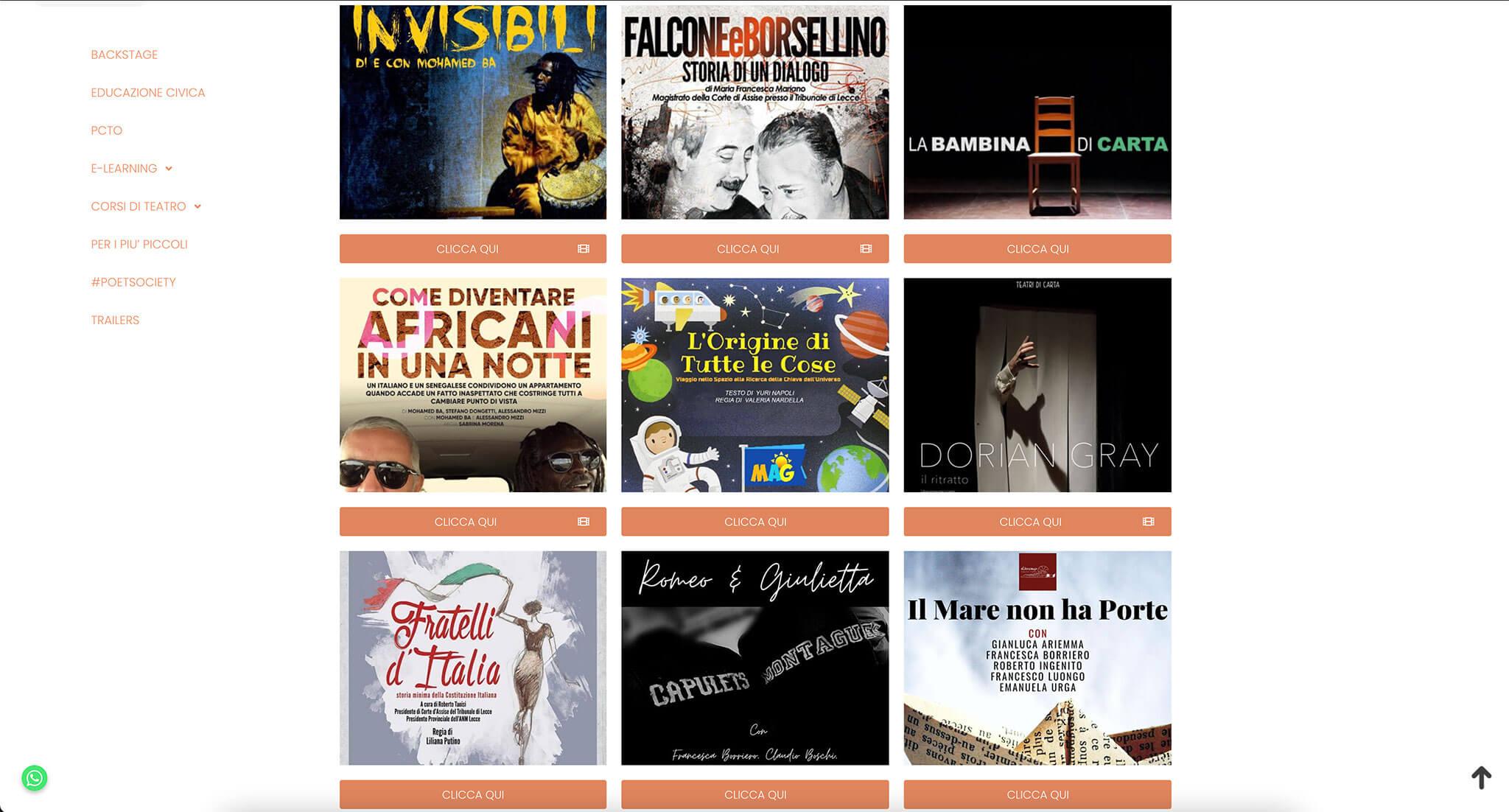 Erasmus Theatre Website Overview